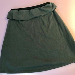 Painted Threads Olive Green Mini Skirt